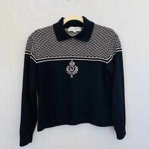St. John Collection pullover sweater collar AUTH.